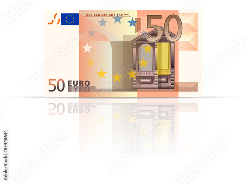 Poster  Fifty euro banknote