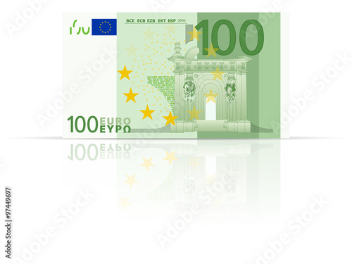 Poster  One hundred euro banknote