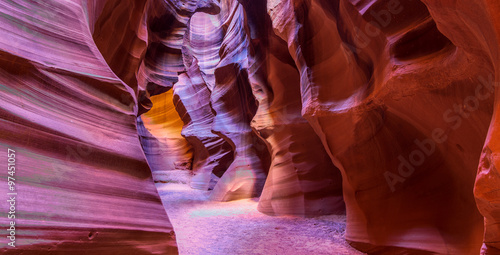 In de dag Antilope Antelope Canyon in Page, Arizona