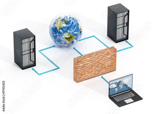 Fotografía  Network security concept
