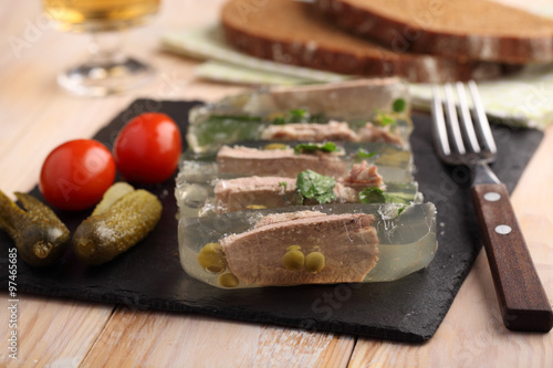 Photo Beef tongue aspic