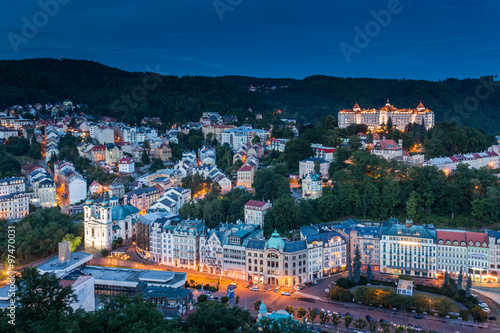 Fotografie, Obraz  World-famous for its mineral springs, the town of Karlovy Vary