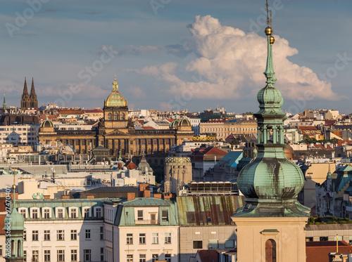 In de dag Moskou 15 June 2014 : PRAGUE IN CZECH ,View from Prague astronomical