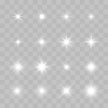 Set Of Vector Glowing Sparklin...