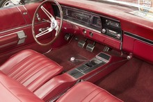Classic Car Interior - Red Leather