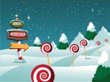 Santa's Workshop Christmas Sce...