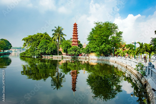 Photo  Tran Quoc pagoda in Ha Noi capital of Vietnam.