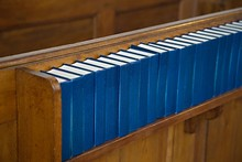 Church Interior With Hymnals
