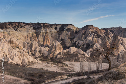 Foto op Aluminium Zalm wonderful landscape of Cappadocia in Turkey