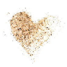 Heart Sand Isolated On White B...