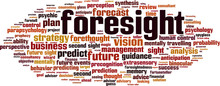 Foresight Word Cloud Concept. Vector Illustration