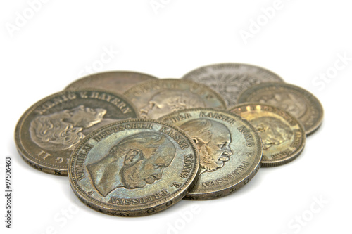Alte Deutsche Münzen Buy This Stock Photo And Explore Similar