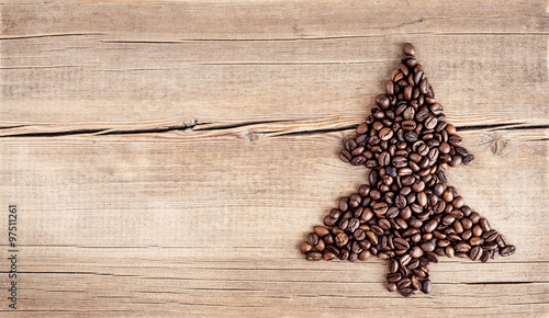Poster de jardin Salle de cafe Christmas card with natural decorations on wooden background