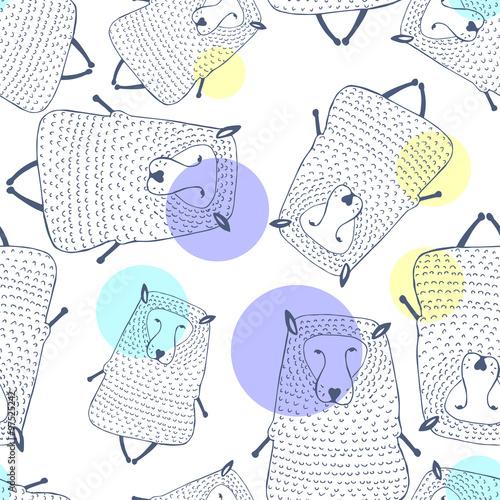 owce-wzor-tlo-zwierzece-ilustracji-wektorowych