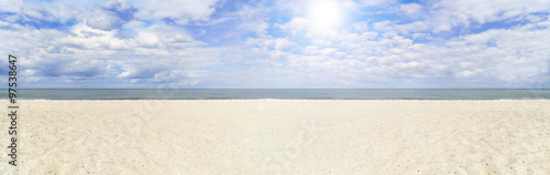 Spoed Foto op Canvas Noordzee Strandpanorama