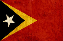 Grungy Paper Flag Of East Timor