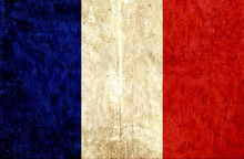 Grungy Paper Flag Of France