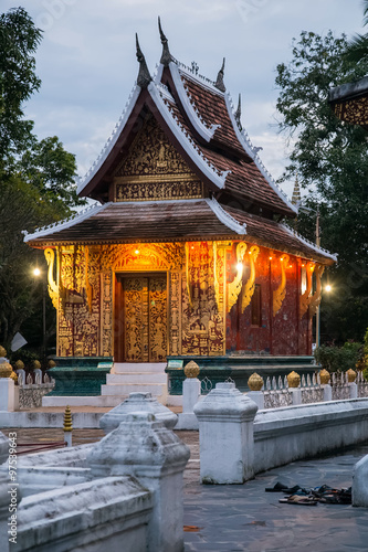 Fotografie, Obraz  Wat Xieng Thong Buddhist temple in Luang Prabang,  Laos