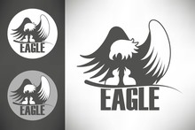 Bald Eagle In The Nest Logo