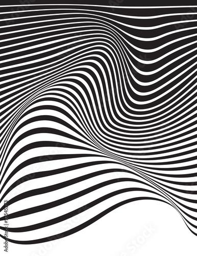 optyczne-sztuka-opart-paski-faliste-tlo