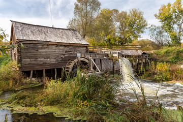 Obraz na Szkle Style Old water mill