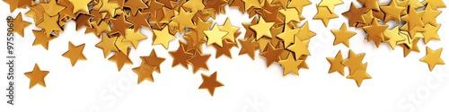 Fotografía Golden confetti stars - panorama