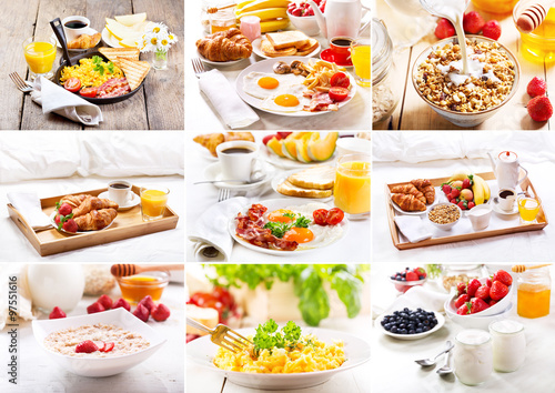 collage of various breakfast #97551616