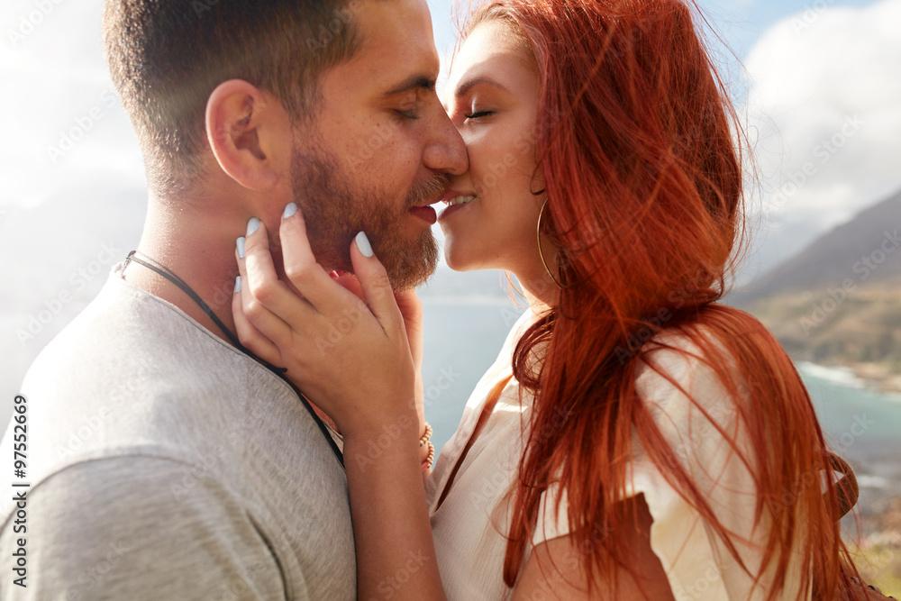 Fototapeta Couple enjoying their love