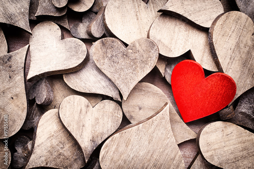 Obraz Rustic heart. - fototapety do salonu