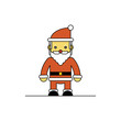 Santa Claus on white background, Cartoon vector illustration.