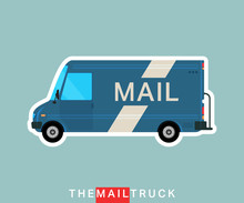Mail Truck Isolated