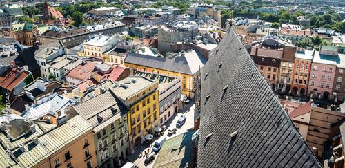 Fototapeta view on roofs of Krakow obraz