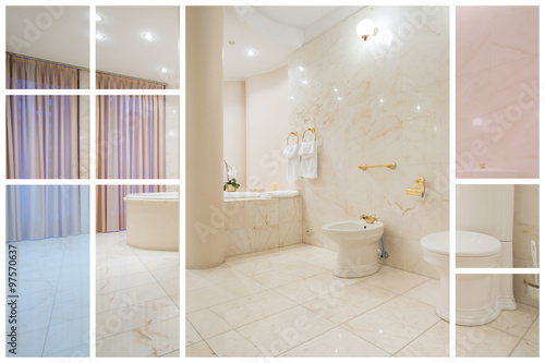 Fototapety, obrazy: Large warm bathroom