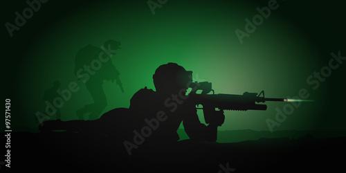 Fotografía  SOLDAT Combat nocturne