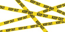 Yellow KEEP OUT Barrier Tape B...