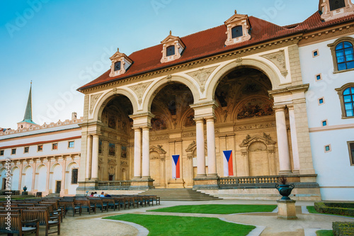 Wallenstein Palace currently the home of the Czech Senate in Pra Poster