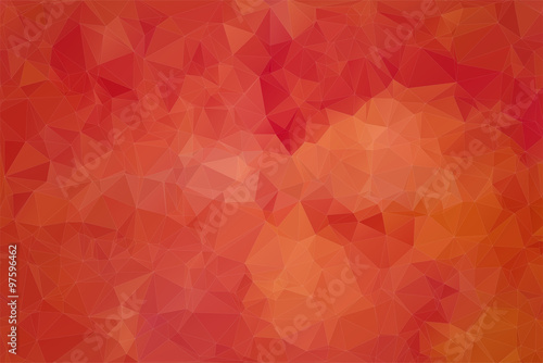 Red abstract background consisting of angular Canvas Print