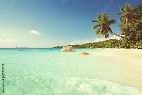 Fototapeta Anse Lazio beach at Praslin island, Seychelles obraz na płótnie