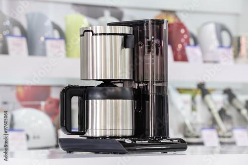 Fotografie, Obraz  Metallic drip coffee maker