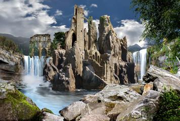 Fototapeta na wymiar Architettura fantasy