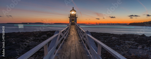Marshall Point Lighthouse at sunset Canvas