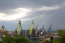 Sea Port Before The Storm