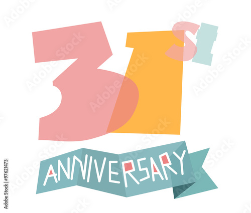 Happy 31st Anniversary Buy This Stock Vector And Explore Similar