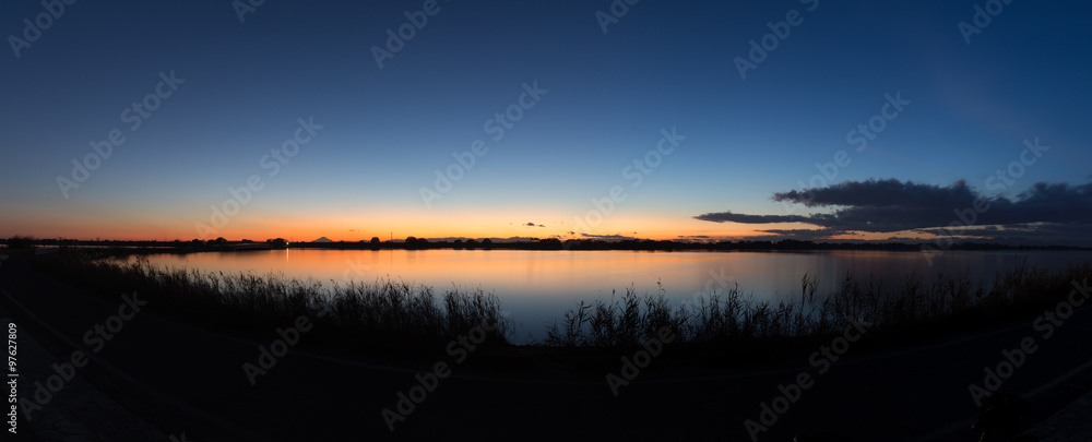 Fototapety, obrazy: 渡良瀬遊水池 夕暮れ