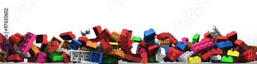 Obraz Plastic building blocks - fototapety do salonu
