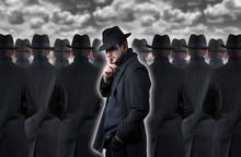 Mysterious Man Making A Silenc...