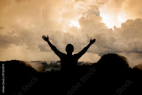 Photo  Man thank God