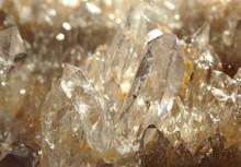 Clear Rock Crystal Quartz Geod...