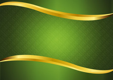 Luxury Green With Gold Lines B...