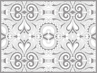 Panel Szklany Ornamenty unique coloring book page for adults - flower paisley design